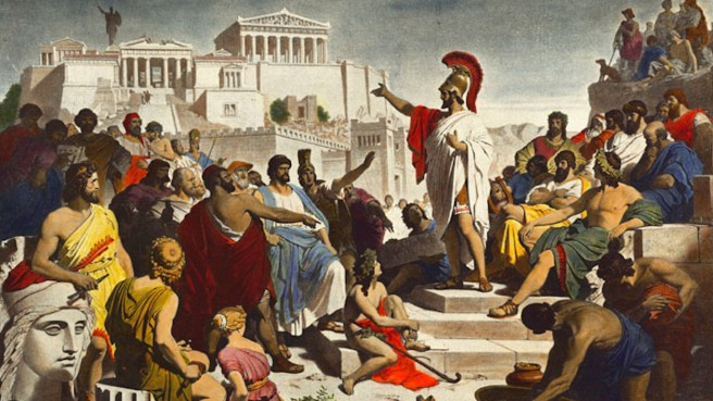 Image result for ancient greek political assembly