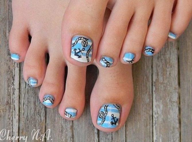 toe nail art nails10