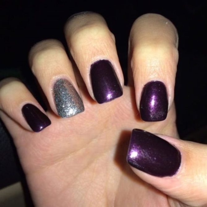purple nails nails10