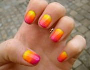 yellow nail art nails10