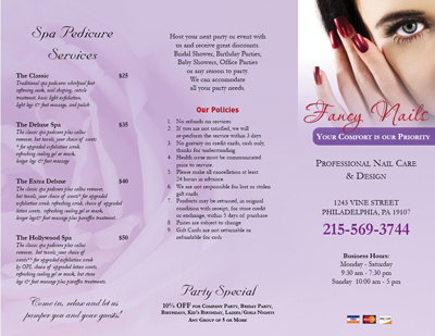 nailsalonprintingcom  Business Cards  Postcards  Brochures  Coupons for Nail Salon