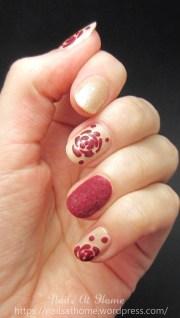 velvet roses nail art nails