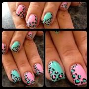 leopard print gel nails - nail