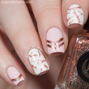 rose gold marble nails nailsbyerin