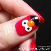 Elmo Inspired Nail Art