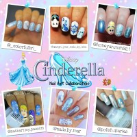 Cinderella Nail Art Collab | nailsbyhoneycrunch321