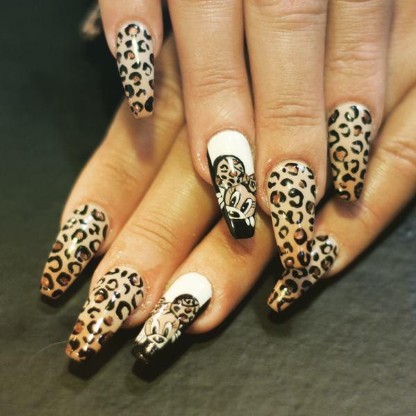 Animal print Nails Coruña