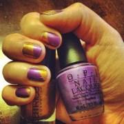 taped mani attempt #1 royal purple