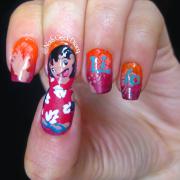 lilo & stitch nail art nails