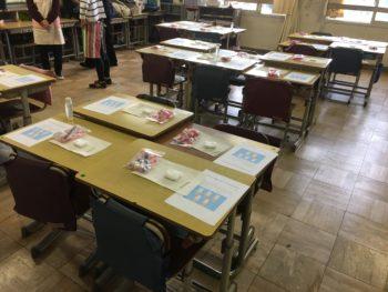 ボランティア会場の教室