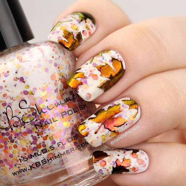 Glitter Polish Fall Nail Art Nailsbyfreckles