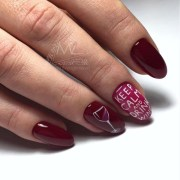 wine glass nail design