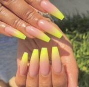 and newest yellow nail design
