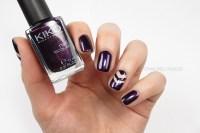 nails reloaded - Nageldesign: aubergine single chevron