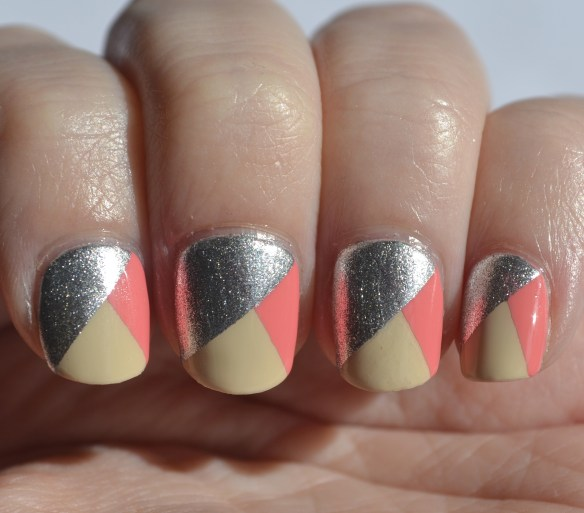 opi tri-color nail art nails