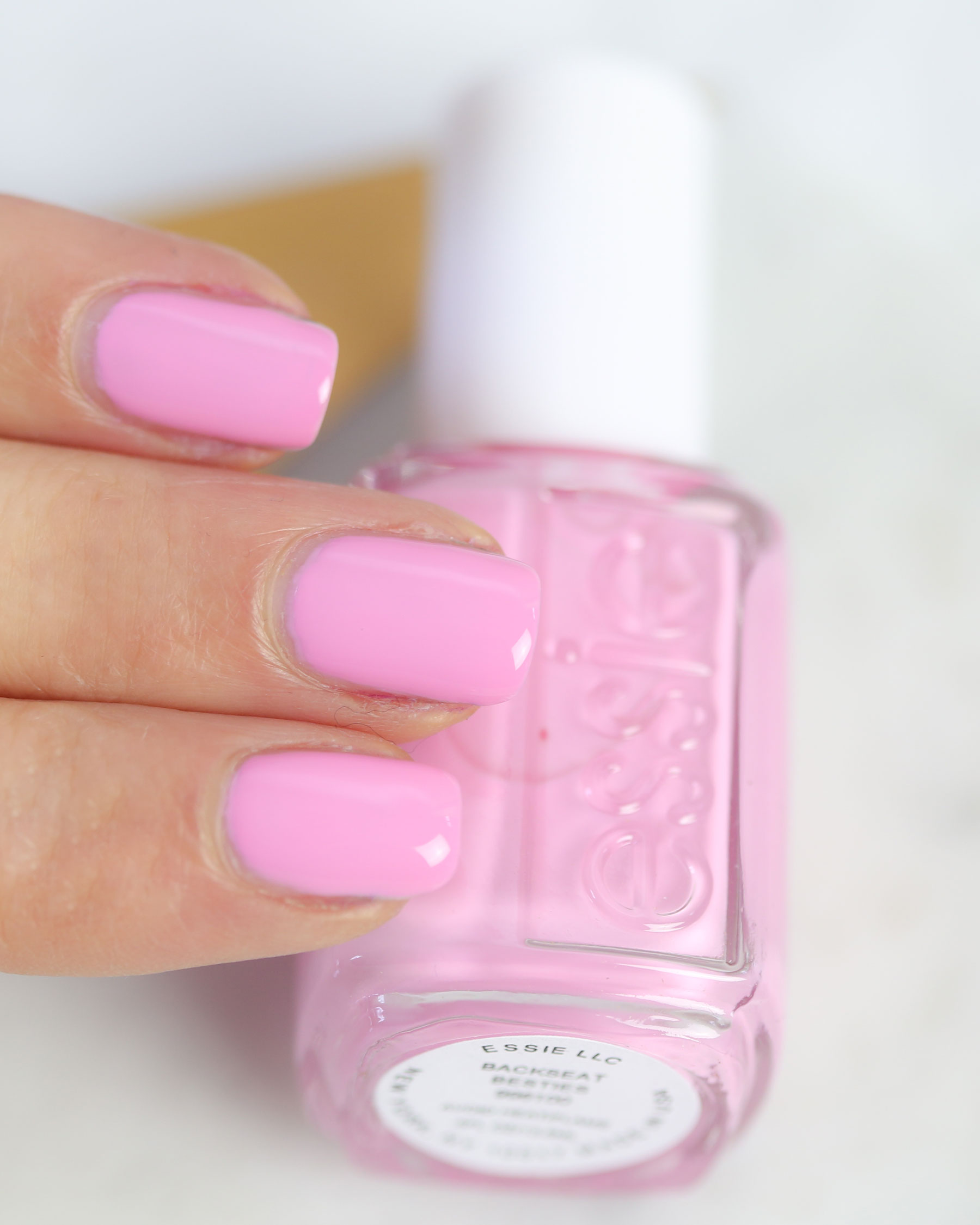 Essie Spring 2017 Swatches Backseat Besties Pink Nails