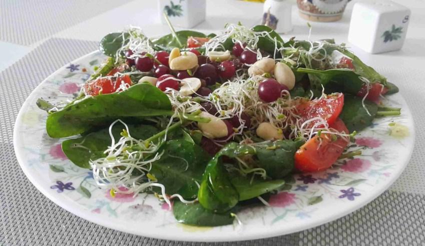 vitamiinisalat jõhvikate ja india pähklitega