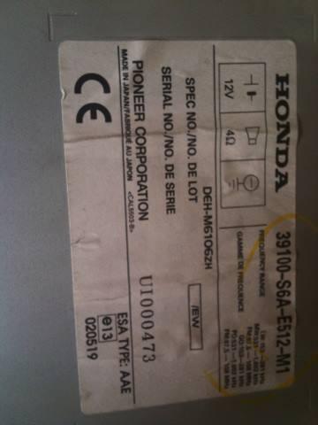 2002 Honda Civic Radio Code : honda, civic, radio, Honda, Civic:, Civic, Radio, Unlock