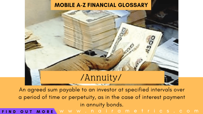 Annuity meaning financial terminologies - investing
