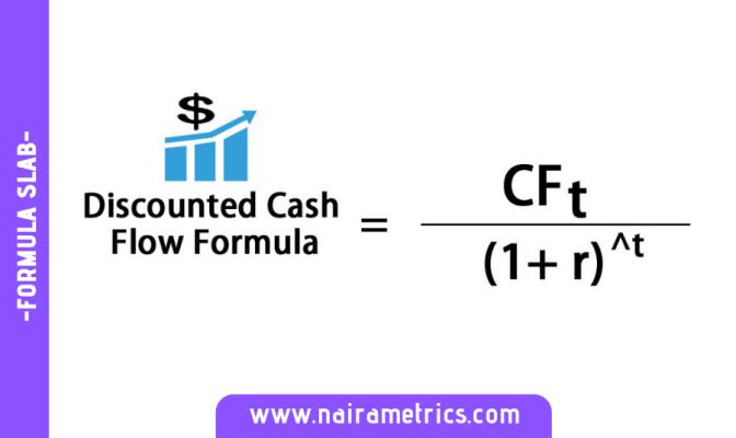 DISCOUNTED CASH FORMULA