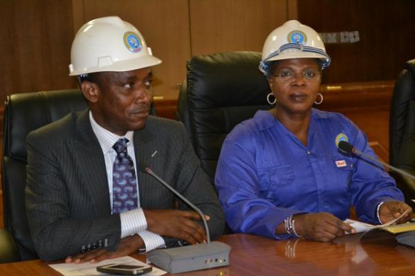 Chairman of NERC wearing safety helmet