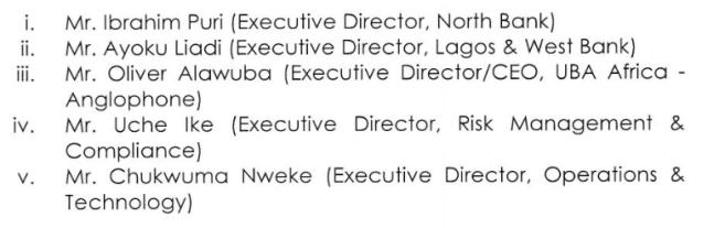 UBA New Directors
