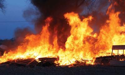 Fire outbreak in Agboju, Festac