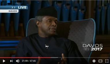 Horrow Show: Watch Osinbajo Bungle Question About Economic Leadership At WEF 2017