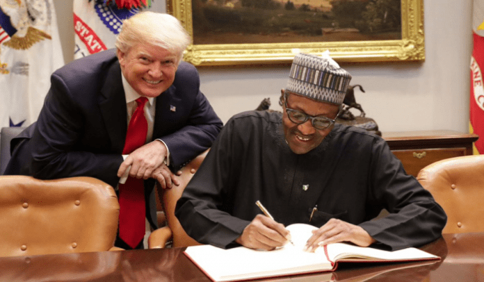 President Buhari and President Trump of the United States in Pictures together.