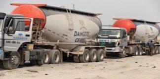 Dangote Cement Plc trucks