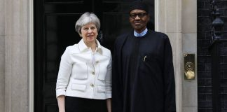 Theresa May and Buhari