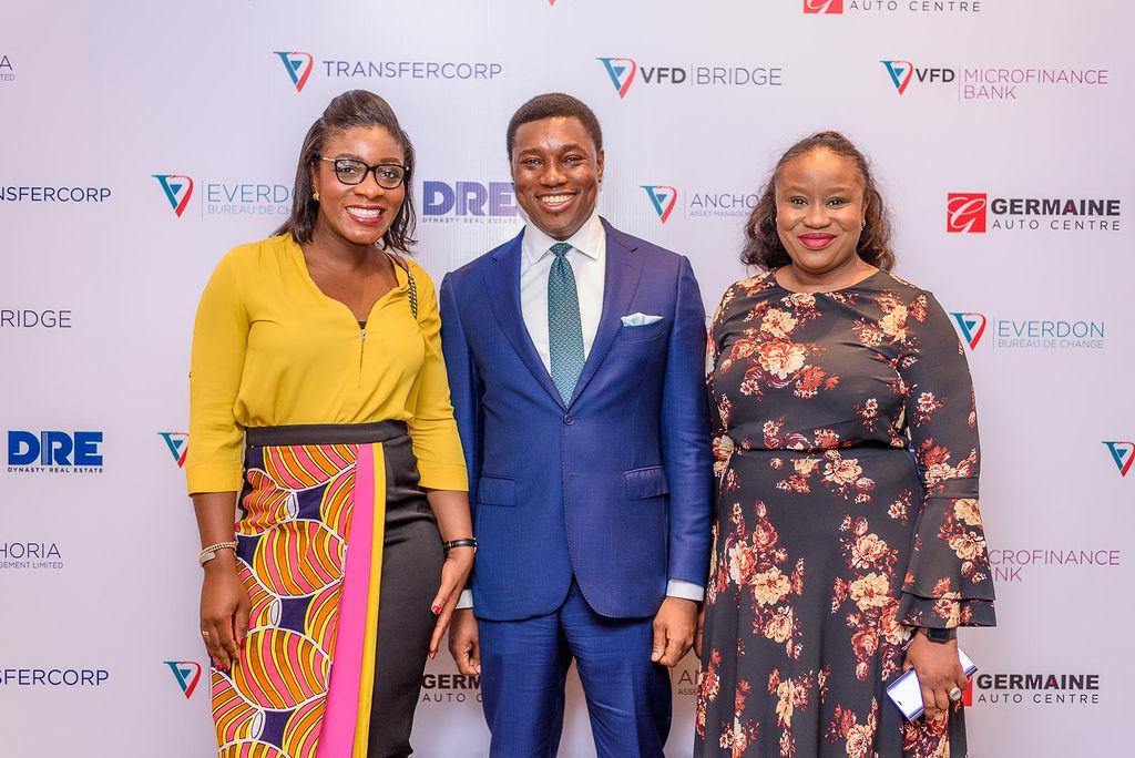 L-R; Chidinma Chukwueke-Okoli, Non-Executive Director, Premium Green Ltd., a major shareholder of VFD Group; Nonso Okpala, GMD/CEO, VFD Group; and Adaobi Ekweanya, Acting MD, Anchoria Asset Management Ltd