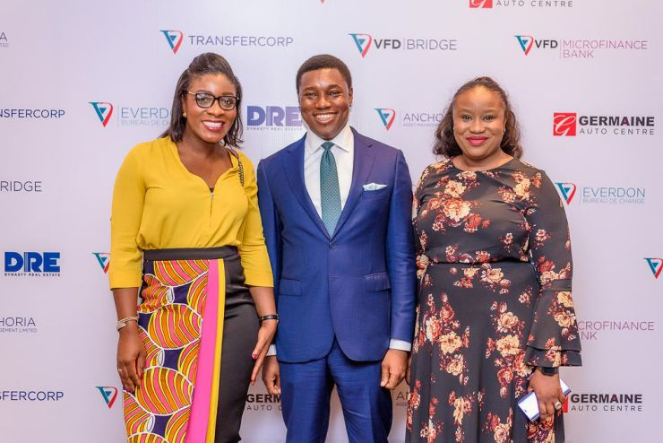 L-R; Chidinma Chukwueke-Okoli, Non-Executive Director, Premium Green Ltd., a major shareholder of VFD Group; Nonso Okpala, GMD/CEO, VFD Group; and Adaobi Ekweanya, Acting MD, Anchoria Asset Management Ltd