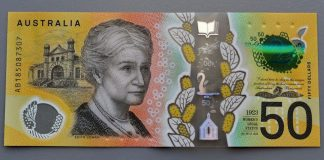 Australian dollar, Spelling error on Australian dollar, Reserve Bank of Australia