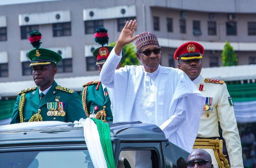 President Muhammadu Buhari at Eagle Square, Abuja