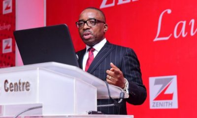 Zenith Bank GMD Ebenezer Onyeagwu, Central Bank of Nigeria, CBN's loan-to-deposit ratio policy, Nigerian Stock Exchange NSE stocks, Banks in Nigeria, Deposit Money Banks in Nigeria, Zenith Bank collaborates with fintechs, but insists it is not scared to compete with them, Zenith Bank sets withdrawal limit for customers, as dollar sells for N400, NIGERIA| ZENITH BANK: Revaluation gains support marginal profit growth