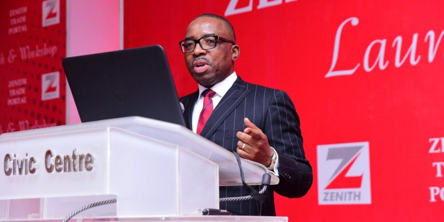Zenith Bank GMD Ebenezer Onyeagwu, Central Bank of Nigeria, CBN's loan-to-deposit ratio policy, Nigerian Stock Exchange NSE stocks, Banks in Nigeria, Deposit Money Banks in Nigeria, Zenith Bank collaborates with fintechs, but insists it is not scared to compete with them