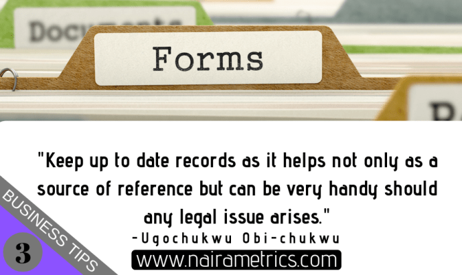 Advantages of keeping records