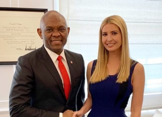 Tony Elumelu and Ivanka Trump