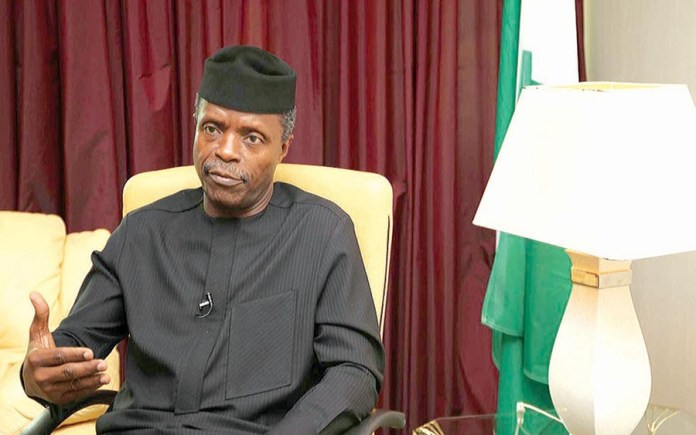 FG foreign reserves Nigeria Yemi-Osinbajo, FG negotiateswith Governors on bail-out fund, as NEC approves 100 billion for NLTP, bail-out fund States Governors