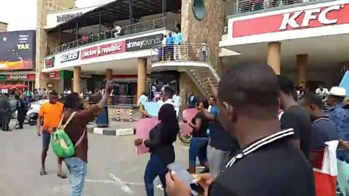 Nigerians invade Shoprite, MTN office shut over xenophobic attacks
