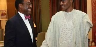 AfDB President, Akinwunmi Adesina gets Buhari's backing for Second term