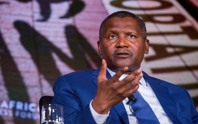 Dangote expresses confidence of making 30 billion revenue , Dangote condemns low input of manufacturing sector to economy