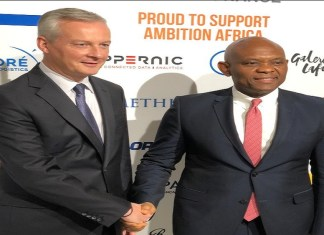 Tony Elumelu gave a keynote address at the Invest for Growth in Africa Conference in Paris