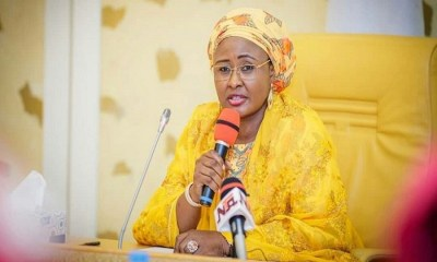 Aisha Buhari, the President Buhari's daugther on self-isolation after UK trip