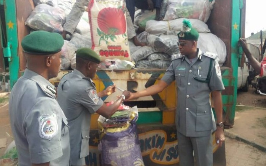Image result for Customs seizes goods worth millions of naira in Mubi market