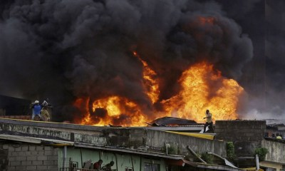 Balogun Market currently on fire, five buildings, goodsalready engulfed by fire