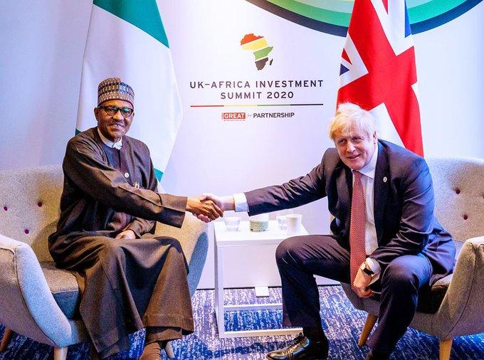 Buhari and boris johnson, Brexit: Buhari says Nigeria's trade relationship with UK lingers