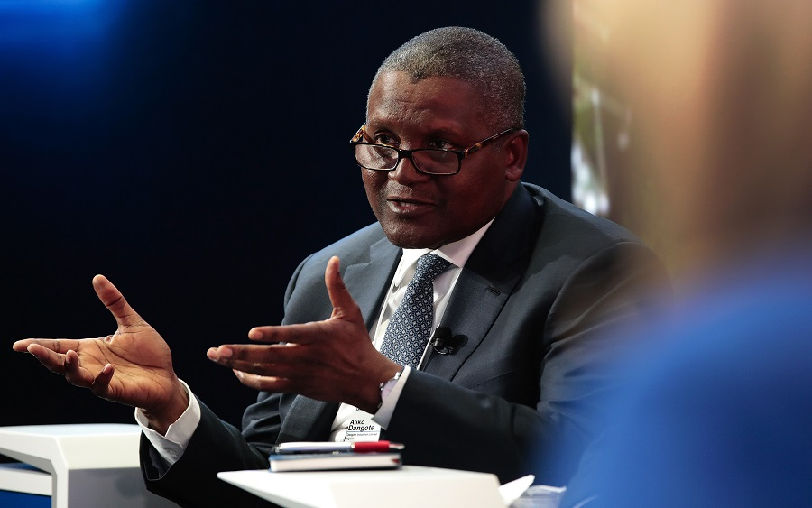 Dangote finally addresseshow he amassed his wealth without father's money, Dangote talks about when he will buy Arsenal, Aliko Dangote defends border closure, reacts to Dangote Cement result