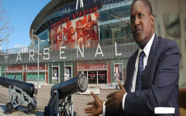 Dangote talks about when he will buy Arsenal